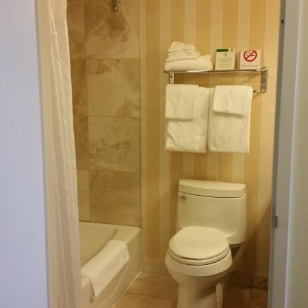Holiday Inn Montreal Longueuil: nice clean bathroom with tub