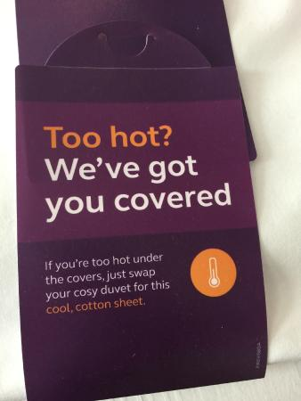 Premier Inn Horsham Hotel: Nice little touch