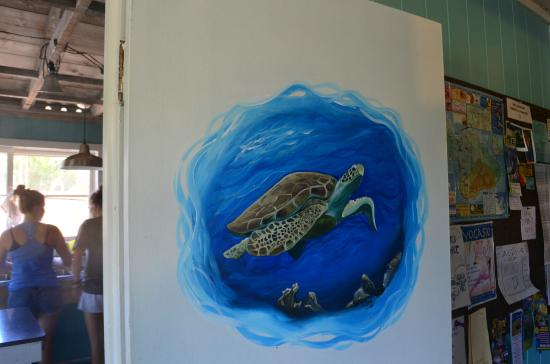 Aloha Surf Hostel: Painting done by one of the staff members when we were staying
