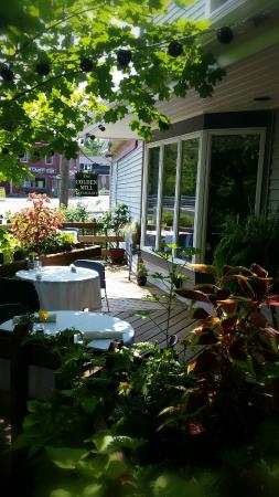 Colden, Нью-Йорк: One of the best outdoor seating areas in the region!