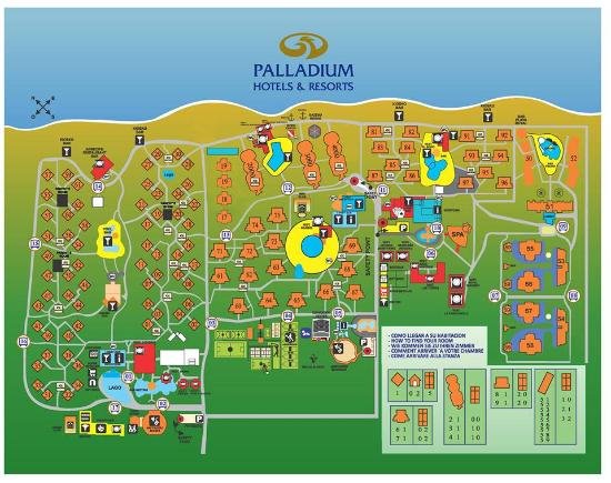Palladium Map  Picture of TRS Turquesa Hotel Punta Cana