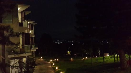 Lembang Asri: View from my room at night.