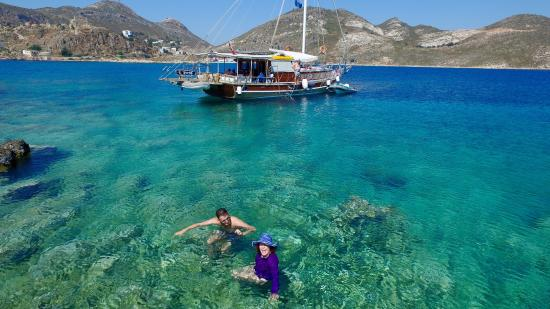 Greek Island Kastellorizo From Sky Picture Of Boat Trips By - Greek island vacations