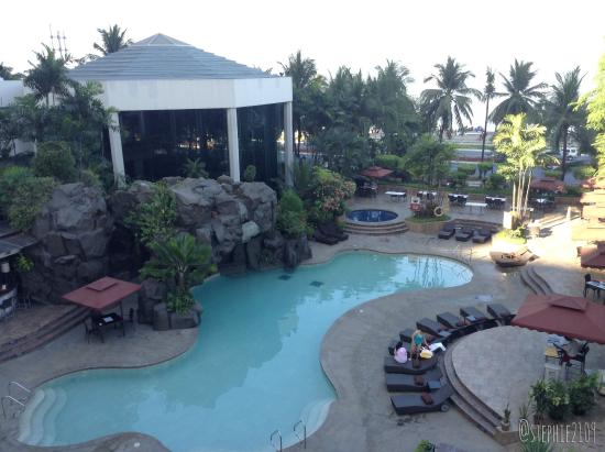 Diamond Hotel Philippines Pool Area From Above