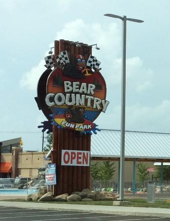 The Track: Bear Country Fun Park sign Pigeon Forge 2015