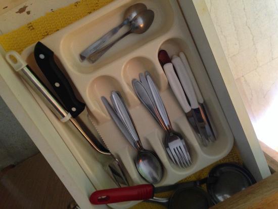 Paligremnos Apartments: Посуда в номере