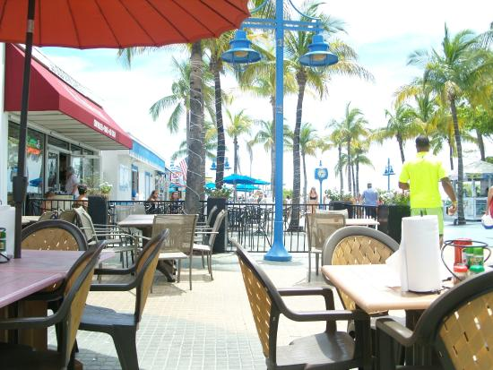 Citrola's Italian Grill - At Fort Myers Beach: View from Patio seating of Time Square