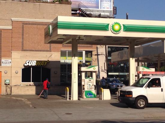Subway in BP gas station - Picture of Subway, Chicago - TripAdvisor
