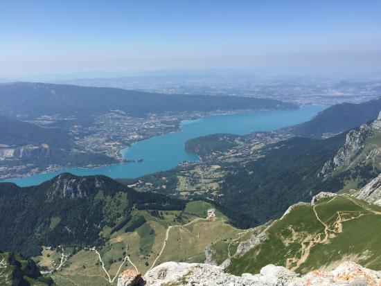 La Tournette: View of Lake Annecy