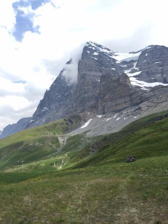 グリンデルワルト, スイス, これが、アイガーかと。そこに自分がいることに、感動しました。