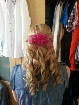 An up-do Aimee did in May 2014