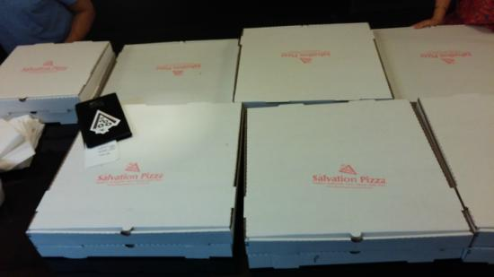 Salvation Pizza: my 16 Pie to-go order! Top THAT!