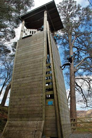 Plas y Brenin Capel Curig: Our Abseil Tower