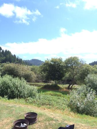 Lakeside, OR: View from camp site