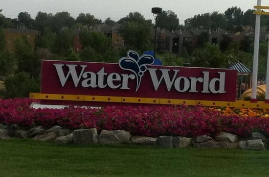 Water World: Sign at entrance
