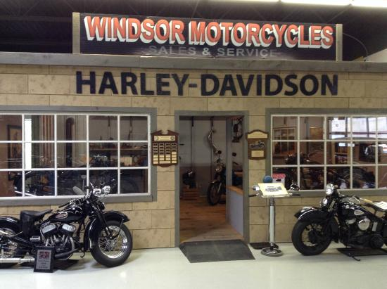 model of an old harley-davidson repair shop. - picture of canadian