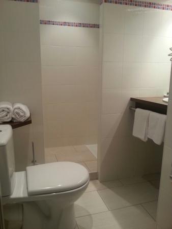 Hôtel Mercure Castres L'Occitan : La salle de bain très  fonctionnelle