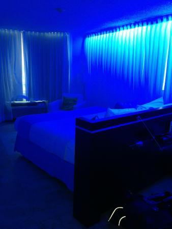 San Juan Water Beach Club Hotel Awesome Blue Neon Light