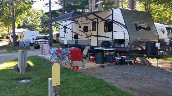 Wells Beach Resort Campground: Campsite at Wells, Maine
