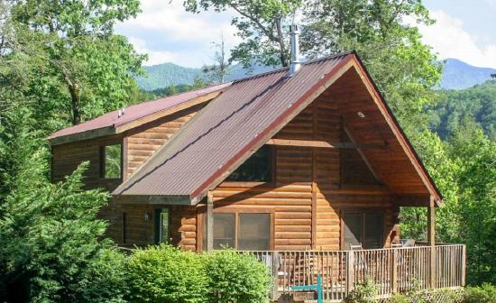 Mountain Shadows Log Home Resort: Luxury Mountain Cabin