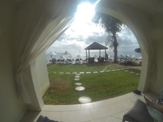Holetown, Barbados: View from the ground floor sea view room