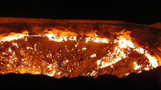 Darvaza, تركمانستان: il cratere