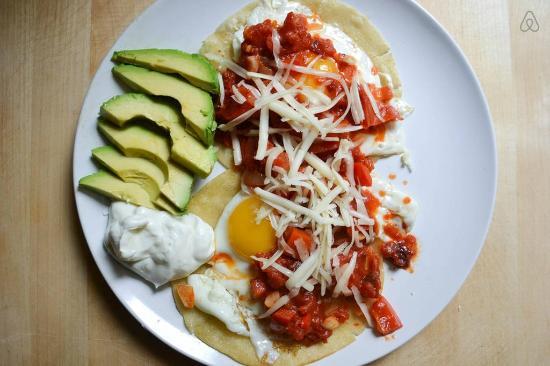 Posada Luna del Sur: Mexican breakfast