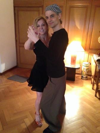 Alejandro Puerta Tango Teachings: Alejandro and I dancing on our last day