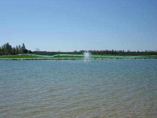 Birds Hill Provincial Park : Main Fountain At Beach