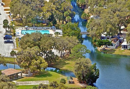 Bulow Rv Resort Overhead View