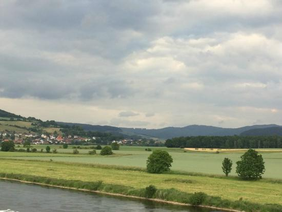 Polle, Alemania: view from the restaurant