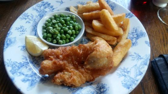 Prince of Wales : Hand Battered fish and chips £5.45