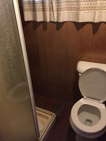 Bucks Lake Lodge : Very small and dirty cabin . Be careful when using the bathroom, it's cramped! you may get hit b