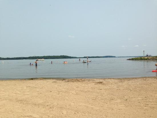 Waunakee, WI: Beach at Governor Nelson State Park- July 2015