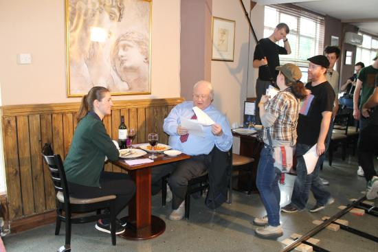Colin Baker filming at Giovannis - Picture of Giovanni's ...