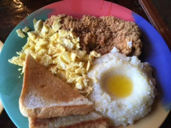 Picture of the breakfast klub houston for Fish and grits near me