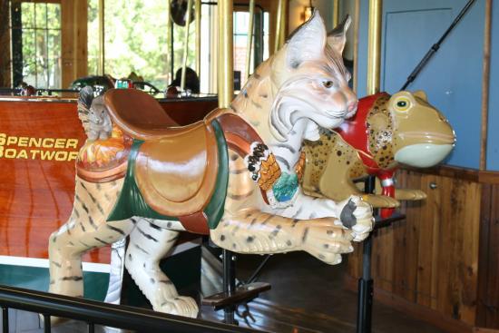 Adirondack Carousel: Midnight the bobcat