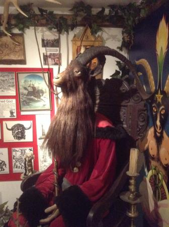 The Museum of Witchcraft: Oh a bisexual goat, don't see that every day!