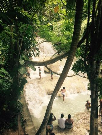 Dunn's River Falls and Park : On the way up from the dry steps