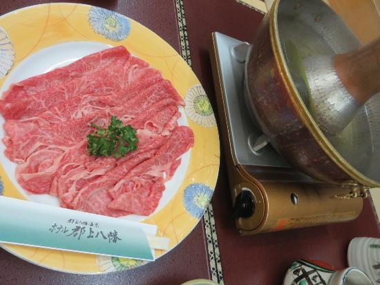Hotel Gujo Hachiman : 最高肉質の飛騨牛しゅぶしゅぶ
