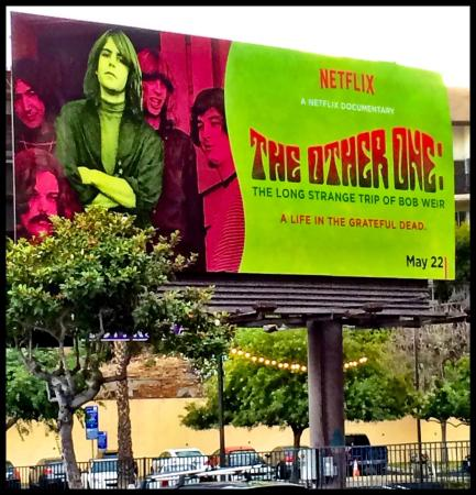 Sunset Marquis: Bob Weir stands tall on W Hollywood Billboard