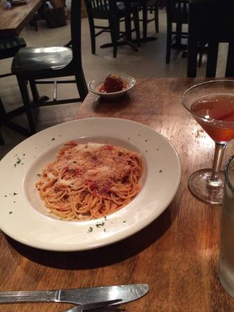 O'Sole Mio Trattoria Italiana: I had the Bolognese (fresh tagliatelle pasta with slow cooked meaty Bolognese) my wife had the s