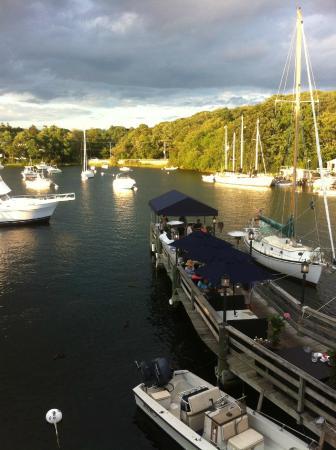 Captain Kidd Restaurant : Eel Pond Harbor at Sunset