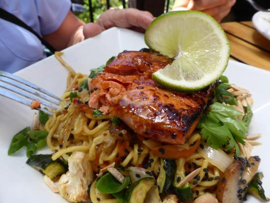 Sandpoint, ID: Salmon Noodle bowl:  special of the day