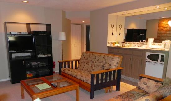 Bonaventure Bed and Breakfast: Lower level lounge area
