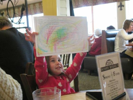 Bobby Byrne's Restaurant & Pub: inside look they provide coloring for kids