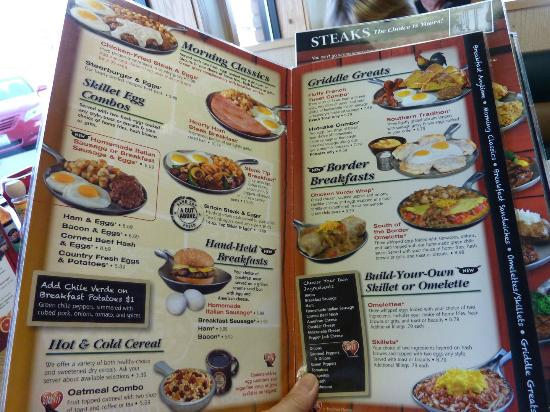 Iron Skillet Restaurant Breakfast Menu