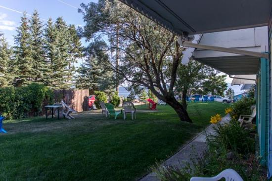 Bigfork, Montana: View from the rooms across to the Lake