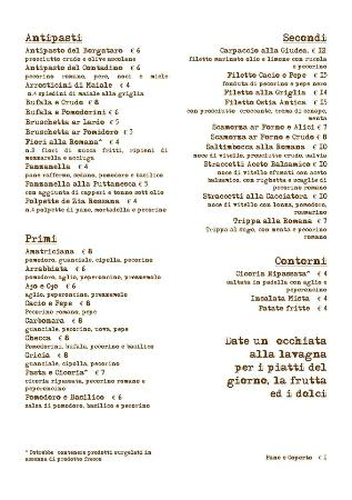 Menu 39 foto di caligola cucina romana palermo tripadvisor for Menu cucina romana