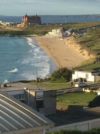 Playa Fistral: Fistral beach from our holiday apartment